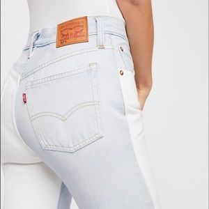 Levi's 501's High Waisted light washed jeans
